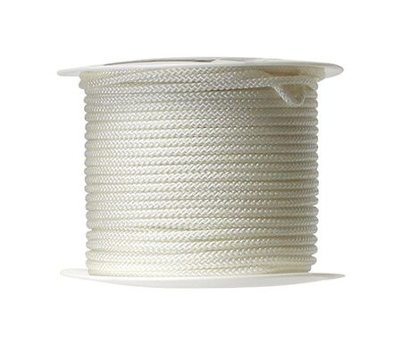Wellington 11/64 in. Dia. x 200 ft. L Braid Jacket Nylon Cord White