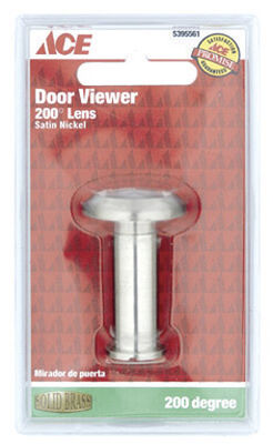 Ace Door Viewer Satin Nickel Solid Brass Fits Doors 1-1/2 in. to 2-1/8 in. Thick