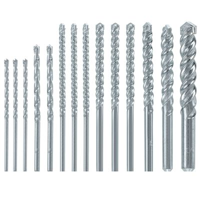 Bosch Fast Spiral Carbide Tipped Straight Shank Multi Size in. Dia. Rotary Drill Bit 14 pc.