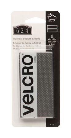 Velcro 4 in. L x 2 in. W Hook and Loop Fastener 2 pk