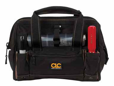CLC Tote Bag with Plastic Tray 9 in. H x 12 in. L x 8 in. W 3 inside pockets 13 outside pockets