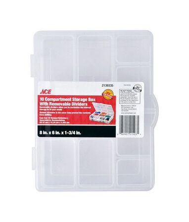 Ace Storage Organizer 1-3/4 in. H x 6 in. W x 8 in. L Clear