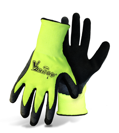 Glove Knit Txtrd HiVis Green L