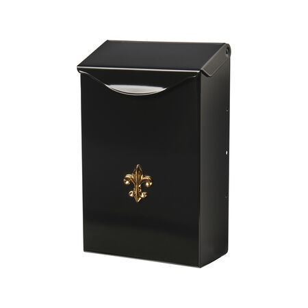 Gibraltar Mailboxes Gibraltar City Classic Wall-Mounted Black Mailbox 9-3/4 in. H x 3-1/4 in.
