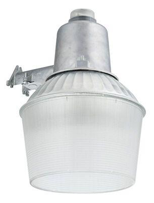 Lithonia Lighting Dusk to Dawn Hardwired Metal Halide Silver Area Light