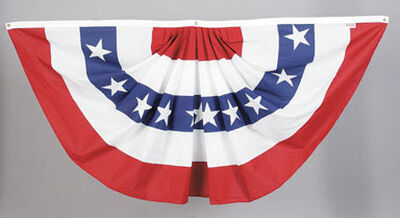 Valley Forge American Pleated Flag 3 ft. H x 6 ft. W