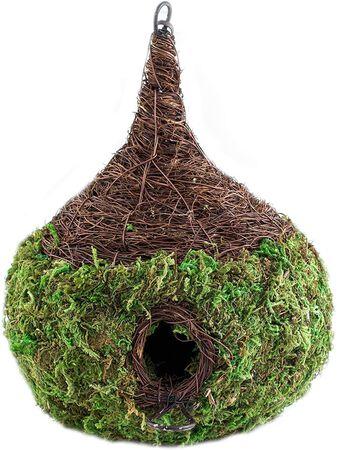 """Super Moss Raindrop Woven Birdhouse Medium, 9.5"""" by 10.5"""", Fresh Green"""