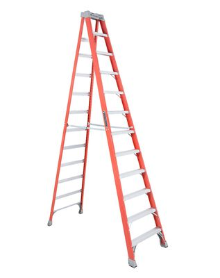 12 ft Louisville FS1512 Fiberglass Step Ladder, Type IA, 300 lb Load Capacity