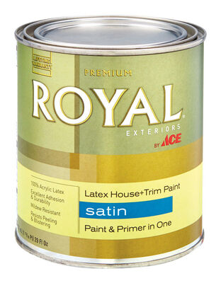 Ace Royal Acrylic Latex House & Trim Paint & Primer Satin 1 qt.