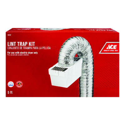Ace Lint Trap 4 in. W White