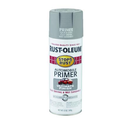 Rust-Oleum Stops Rust Gray Flat Oil-Based Alkyd Primer 12 oz.