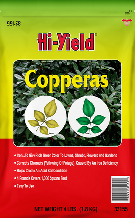 Hi-Yield Copperas Iron Sulfate 1000 sq. ft. 4 lb.