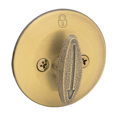 Home Plus Polished Brass Single Cylinder Deadbolt 1-3/4 in. Key No. KW1