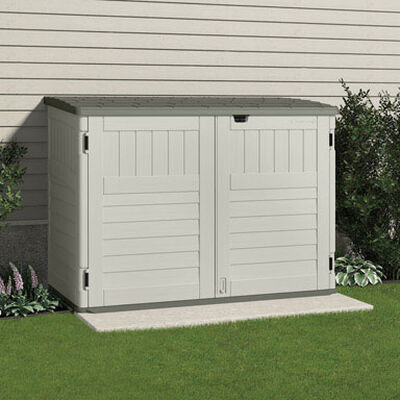 Suncast The Stow-Away Horizontal Storage Shed 52 in. H x 70-1/2 in. W x 44-1/4 in. D