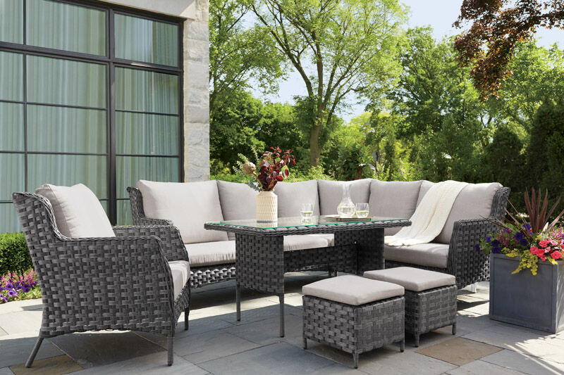 Living Accents Brookhaven 6 pc. Patio Set Cream | Stine ... on Living Accents Patio id=23681