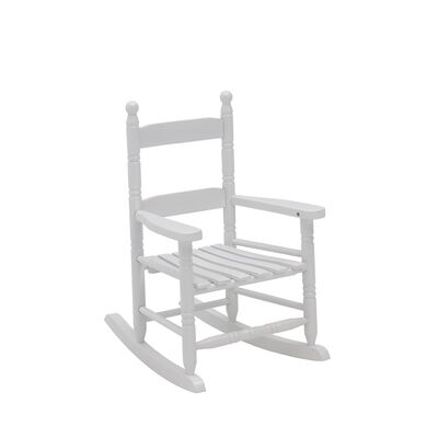 Jack Post White Wood Knollwood Kid's Rocking Chair