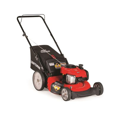 Craftsman High-Wheel 21 in. W 140 cc Manual-Push Mulching Capability Lawn Mower