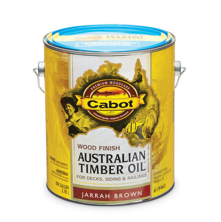 Cabot Transparent 19460 Jarrah Brown Oil-Based Natural Oil/Waterborne Hybrid Australian Timber