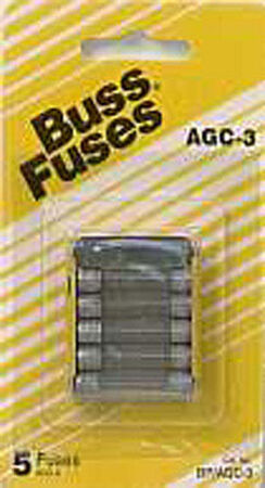 Bussmann 3 amps AGC Automotive Fuse 5 pk