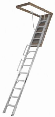Louisville FTAL258P Aluminum Fire-treated Attic Ladder, N/A, 350 lb Load Capacity