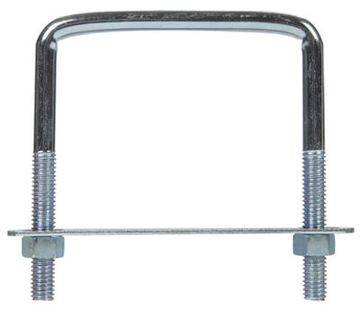 Hampton 3-3/4 in. W x 4 in. L Zinc Plated Steel Lumber Size Square Bend U-Bolt 5 pk