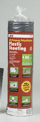 ACE Plastic Sheeting 4 mil x 10 ft. W x 25 ft. L Polyethylene Black