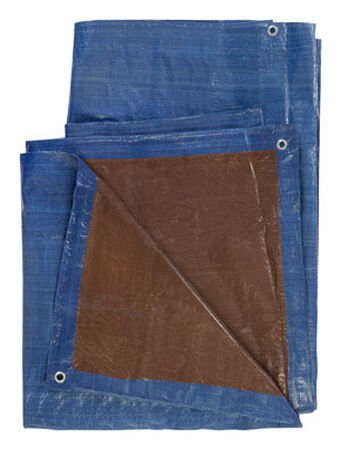 Ace Blue/Brown Medium Duty Tarp 12 ft. W x 20 ft. L