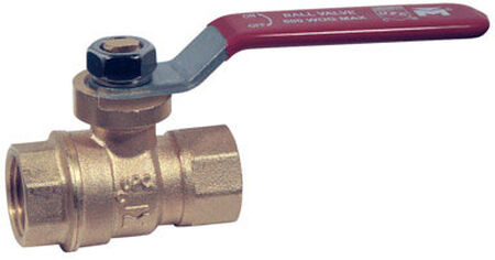 Mueller Ball Valve 3/8 in. FPT Brass Packing Gland