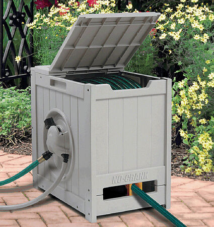 Suncast Water Powered Automatic Winding Hose Reel 125 ft. Antique Bronze