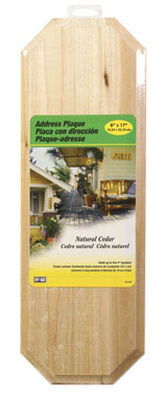 Hy-Ko 4 in. Wood Wood Address Plaque Rectangular Light Brown