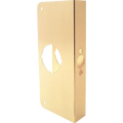 Prime-Line Door Reinforcer Entry 2.31 in. 10.69 in. x 5.69 in. x 2.31 in. Brass Solid Brass Use on T