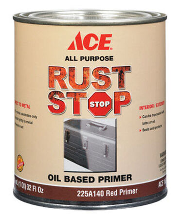 Ace Rust Stop Oil-Based Interior and Exterior Primer 1 qt. Red