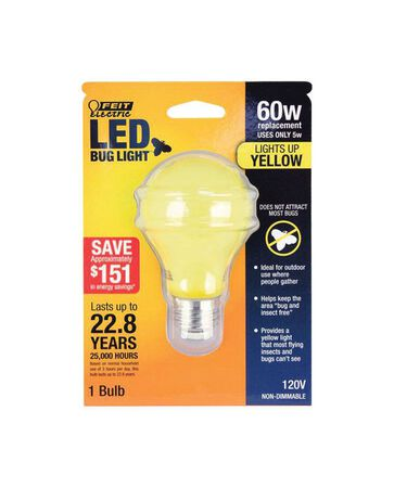 FEIT Electric LED Bulb 5 watts 400 lumens A-Line A19 60 watts equivalency 1 pk