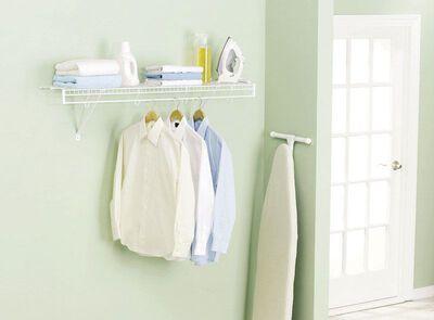 Rubbermaid 48 in. L x 48 in. H x 12 in. W Free Slide Shelf Kit White