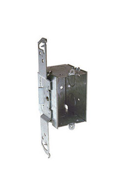 Raco 7 in. H Rectangle 1 Gang Switch Box 1/2 in. Gray Steel