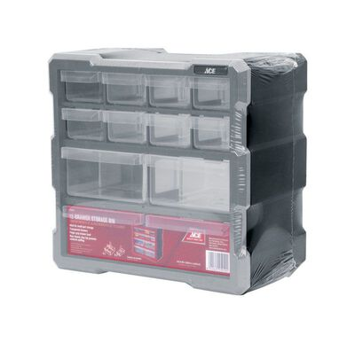Ace Storage Organizer 10-1/2 in. H x 10-9/16 in. W x 6-1/4 in. L Gray