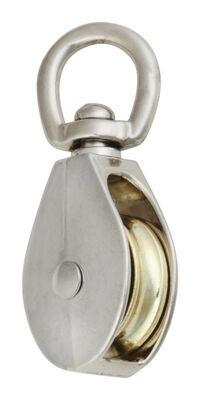 Campbell Chain Swivel Single Eye Pulley 1-1/2 in. Swivel 50 lb. Copper