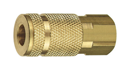 Tru-Flate Brass Air Coupler 1/4 in. FNPT Female A