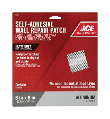 Ace Wall Repair Patch Aluminum Reinforced Self Adhesive 8 in. W x 8 ft. L