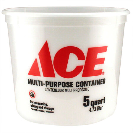 Ace Clear 5 qt. Plastic Bucket