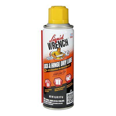 Liquid Wrench Lock & Hinge Dry Lubricant 4.5 oz. Can