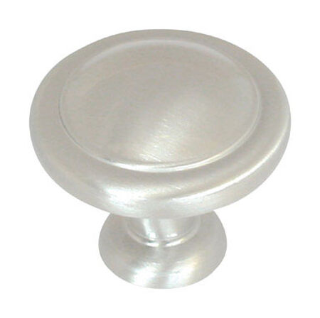 Amerock Reflections Round Furniture Knob 1-1/4 in. Dia. 1 in. Satin Nickel 1 pk