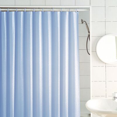 Excell 70 in. H x 72 in. L Light Blue Glitter Shower Curtain Liner