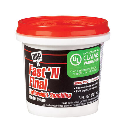 DAP Fast 'N Final Ready to Use Lightweight Spackling Compound 8 oz.