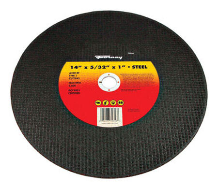 Forney 14 in. Dia. x 5/32 in. thick x 1 in. Metal Cutting Wheel