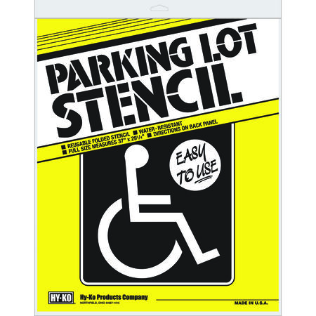 Hy-Ko 37 in. H x 29-1/4 in. W Plastic Parking Lot Stencil Handicap Symbol