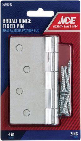 Ace Steel Broad Hinge 4 in. L Zinc 1 pk