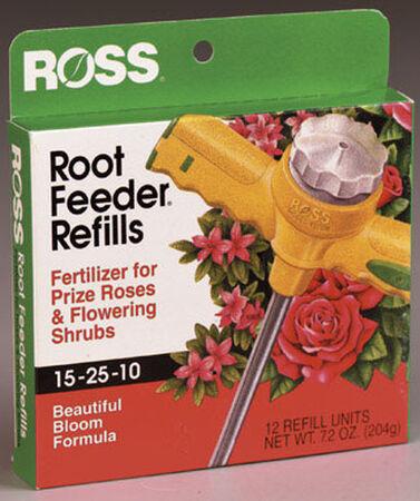 Ross Root Feeder Refills Fertilizer For Roses Flowering Shrubs 12 pk