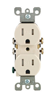 Leviton Electrical Receptacle 15 amps 5-15R 125 volts Almond