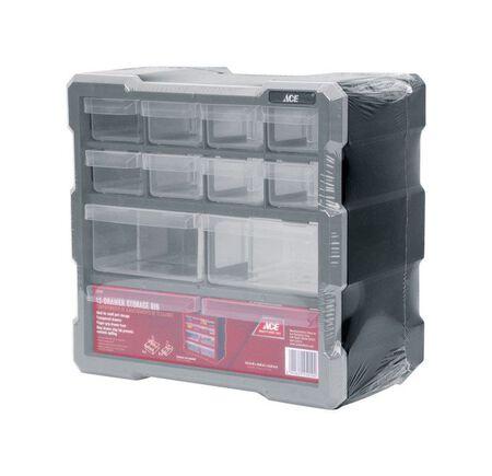Ace Storage Organizer 10-1/2 in. H x 10-9/16 in. W x 6-1/4 in. L Gray